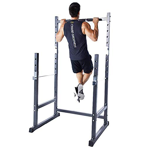 qazxsw Multifunktions-Rack Squat, Trainingsgerät mit einstellbarem und abnehmbarem Gewichtheben