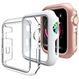 【Pezzi -3】DEOU Cover per Apple Watch Custodia 40mm Series 6 5 4 SE, Senza Protezione per Lo Schermo, Hard Custodia Protettiva per Apple Watch Series 6 5 4 SE