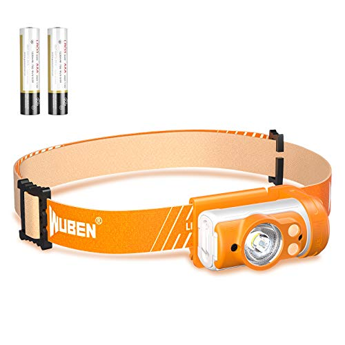 WUBEN H3 LED Headlamp 360° Adjustable Headlight with Red and Blue LightsWaterproof Headlamps 7 ModesSuitable for Adults Children Head Lamp Camping Hiking Climbing Fishingusing AAA Batteries