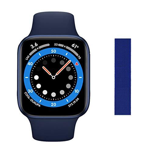 LJMG Adecuado para Android iOS, DW35 Carga Inalámbrica Smartwatch De 1.75 Pulgadas Bluetooth Llamada IPX7 Impermeable Smartwatch Temperatura Corporal Temperatura Cardíaca Y Presión Arterial,C