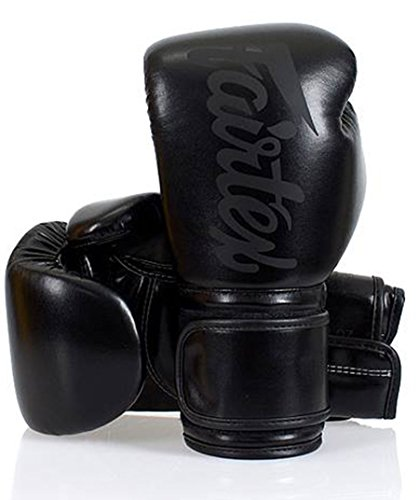 Fairtex - Guantes de Boxeo (Microfibra), Color Negro, 14oz, Negro