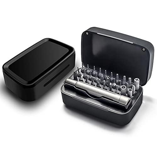Ammanbo Juego de destornilladores de precisión 31 en 1 para iPhone, cámara, MacBook, gafas, relojes, smartphones, iPad, PS4, ordenador portátil