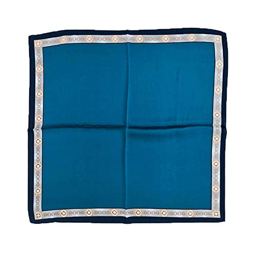 JCNVT Moda Suave Bufanda de Seda Pura para Mujer Cuello de Mujer Moda Arrugada Cuadrada pequeña Bandana Hijab Impreso Bufanda Bufanda Bufanda para decoración (Color : See Chart 1)