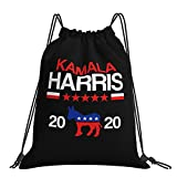 AOOEDM Mochila con cordón Kamala Harris 2020 Election Democrat String Bag Cinch Nylon resistente al agua para gimnasio, compras, deporte, Yoga