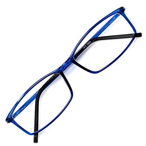 アイウェアエア 老眼鏡 おしゃれ メンズ レディース ブルーライトカット +0.5〜+3.5 4色 スクエア デニム +0.50