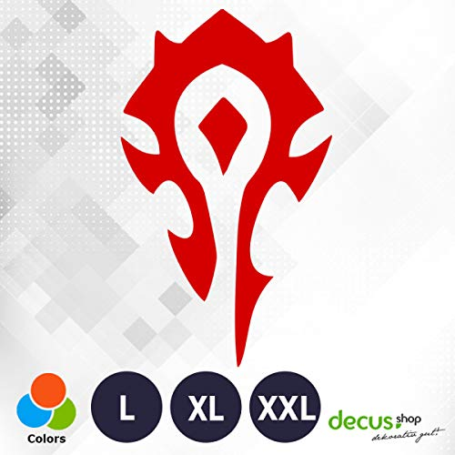 Decus World of Warcraft Horde XL 3233 (rot) // Sticker OEM JDM Style Aufkleber