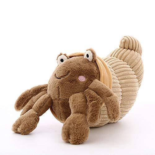Moonvvin Juguete de peluche de cangrejo ermitaño de peluche, muñeca de peluche de animales de dibujos animados, almohadas para decoración del sofá del hogar