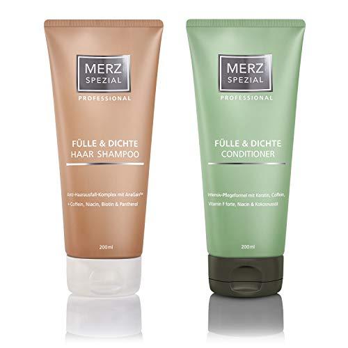 Merz Spezial Professional Set Haar Shampoo & Conditioner - für mehr Haarwachstum und weniger Haarbruch mit Keratin und Koffein