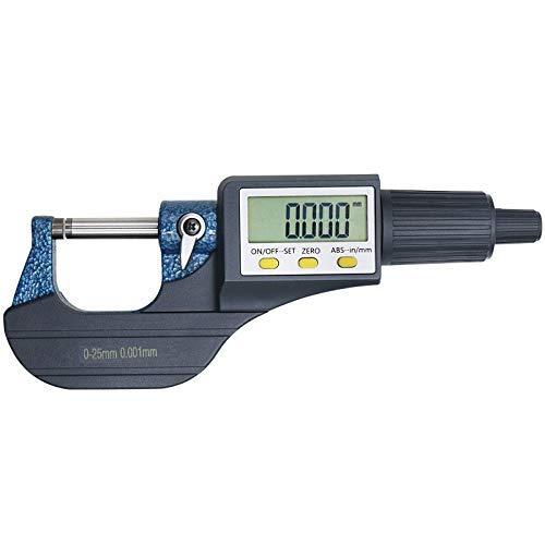 WANGIRL 0-25mm Micron Digital-Außenmessgerät Elektronische Mikrometer-Metermessgerät 0,001mm Dicke Messgerät-Werkzeuge mit Box (Spezifikation: 0 25mm) LOLDF1 (Size : 0 25mm)
