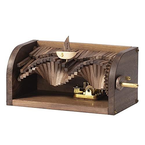 Musikbox Musik Das Lied von der Jagd auf die Wellen Holz-Hand-Wellenmacher-Spieluhr Geschenk-Spieluhr Holz-Spieluhr-Andenken-Box für Frauen