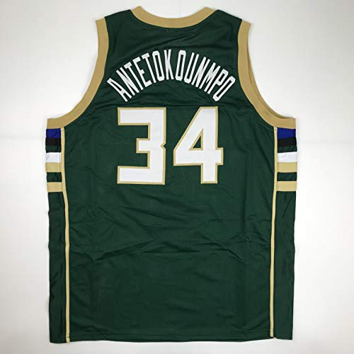 Unsigned Giannis Antetokounmpo Milwaukee Green Custom Stitched Basketball Jersey Size Men's XL New No Brands/Logos