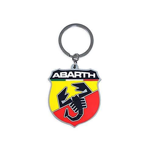 Preisvergleich Produktbild Abarth 21754 offizieller Schlüsselanhänger Soft-Touch Schild,  Red and Yellow,  One Size