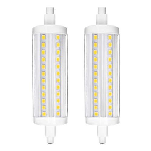 R7S Led Lampe, Vaxiuja led r7s 118mm R7S LED Glühlampe, Vaxiuja Halogenlampen r7s 118mm 240V 10W 118mm dimmbar J118 LED-Flutlichtlampe, 4000K Daylight White 1000LM, 360 ° Abstrahlwinkel, 2-Pack