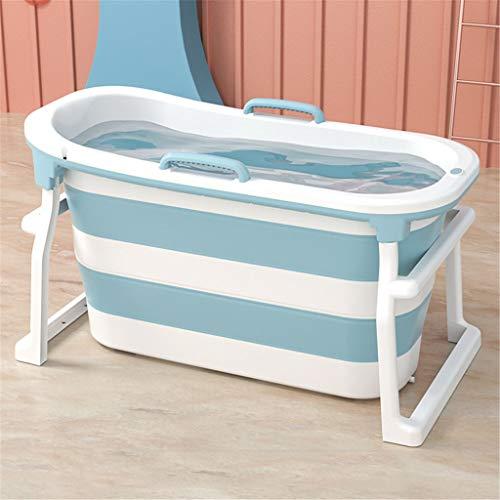 Una mayor portátil Bañera de hidromasaje bañera plegable, tinas de baño de bebé y asientos adaptador piscina, for la ducha grande plástico portable Bañera (rosa, azul)
