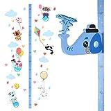 Cizen etiqueta de pared de altura del niño, medición de altura del crecimiento de los niños de diy, adecuado para dormitorio, decoración de pared de jardín de infantes