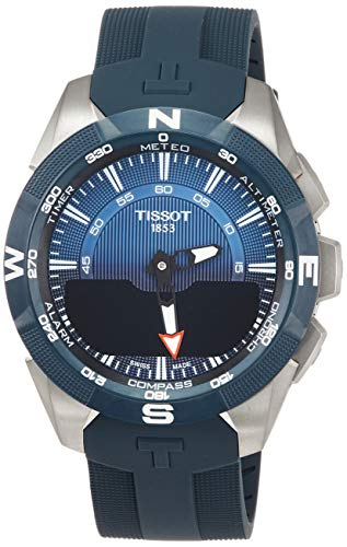 Tissot T-TOUCH SOLAR 2 TITAN BLAU SILIKONBD T110.420.47.041.00 Cronografo uomo