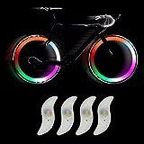 TRIXES 4X d'Ampoules pour Rayons de Roue de Vélo avec des LED aux Couleurs Changeantes