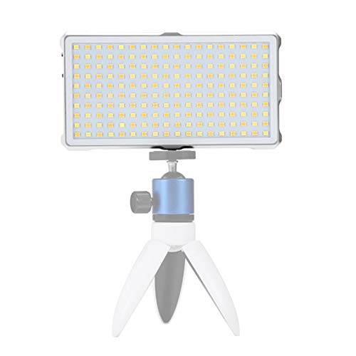 Anbel DSLR-Kameras 180 LEDs Professionelle Vlogging Fotografie Video & Foto-Studio-Licht mit OLED-Display (weiß) (Color : White)
