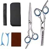 Herramientas de corte para el cabello Tijeras para el cabello Tijeras de adelgazamiento del cabello, 7 PCS Tijeras de corte de cabello/Set de tijeras, tijeras de corte de pelo-para mujeres/hombres
