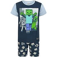 Minecraft Niños Short Navy Pijamas Set Undead Boy