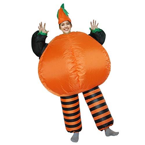 ZXJTX Halloweenkostüm Aufblasbare Kostüme Halloween Cosplay Kostüme Kürbis-Kostüm-Partei-Abendkleid Lustige Anzug for audlts und Kinder Horrorkostüm (Color : B)