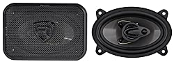 Pair Rockville RV46.3A 4x6 inc 3-Way Car Speakers 500 Watts/70 Watts RMS CEA Rated