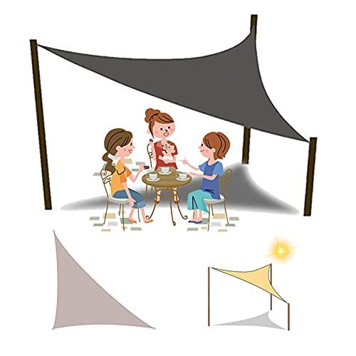 HRD Toldo de jardín con forma de triángulo, impermeable, 90% a prueba de rayos UV, 2 x 2 m, 3 x 3 x 3 m, 4 x 4 x 4 m, para fiesta, patio, restaurante, color gris y beige