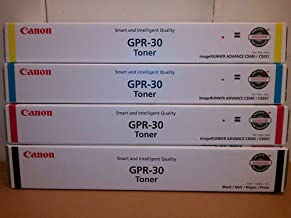 Canon GPR-30 OEM Genuine Toner Cartridge Combo for Canon ImageRunner C5045, C5051 Printer (BCMY One Each: 2789B003AA, 2801B003AA, 2793B003AA, 2797B003AA