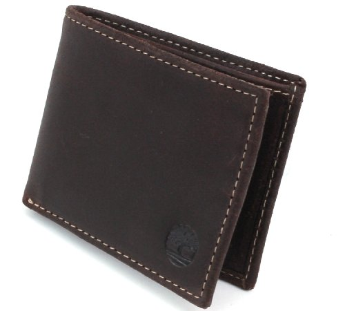 Timberland D65222/01 Vintage Leather Marrone ID Slimfold Portafoglio uomo