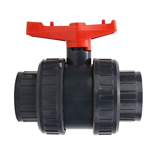 wosume Válvula de Bola Doble, válvula de retención de 18,5 cm / 7,3 Pulgadas, Accesorio de Piscina de Ajuste Válvula de Bola de unión verdadera para Sistemas de Agua hidropónicos