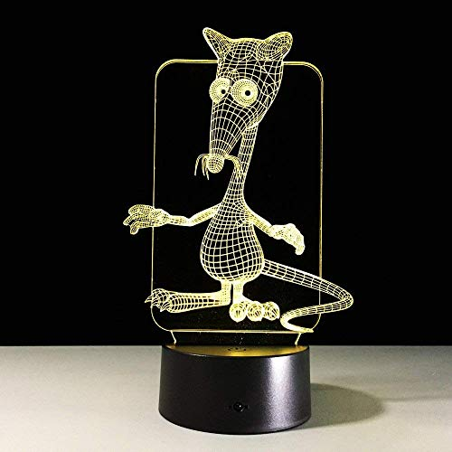 3D nachtlampje, Chinees sterrenbeeld diersymbool dieren 3D lamp 7 kleuren nachtlampje ratte oas tijger konijn draak paard geit hond varken creatief cadeau