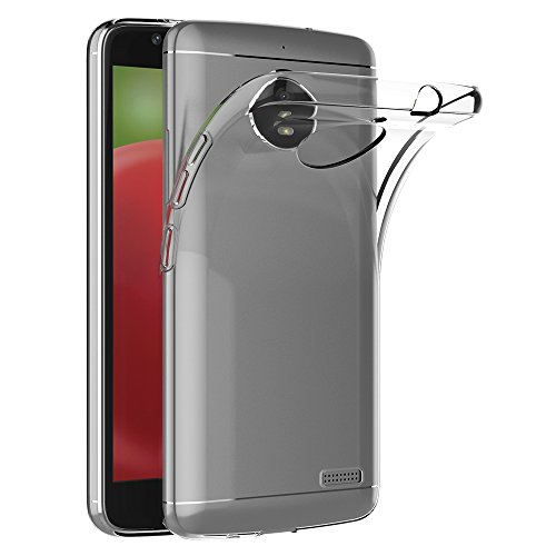 AICEK Motorola Moto E4 Hülle, Transparent Silikon Schutzhülle für Moto E4 Hülle Crystal Clear Durchsichtige TPU Bumper Lenovo Moto E4 Handyhülle