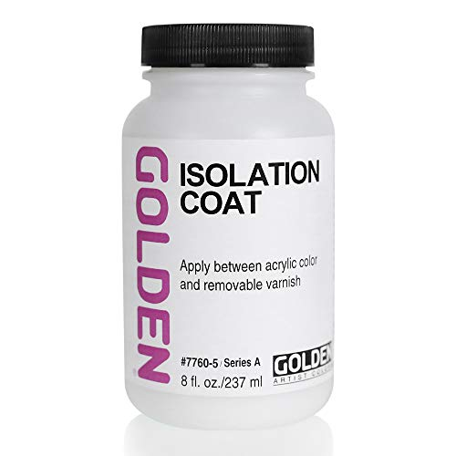 Golden Artist Colors Isolation Coat, to Unify and Protect The Painting Surface, 8 Ounce jar (7760-5)
