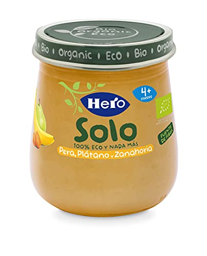 Hero Solo Tarrito de Pera, Zanahoria y Plátano 120g