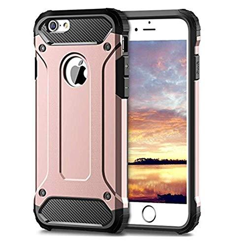Funda compatible con iPhone 6S Plus, carcasa rígida y resistente a los arañazos, de silicona suave, elegante y antihuellas dactilares, para iPhone 6S Plus Oro Rosa Talla única