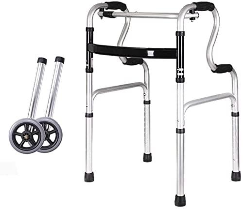 Rollator Walker Mobility Ayuda para caminar para adultos Ancianos Rollator Walker Walkers estándar para Seaors Doblading Playing Mobility Aid Altura Ajustable Ajustable Frames Ligeros (Color : B)