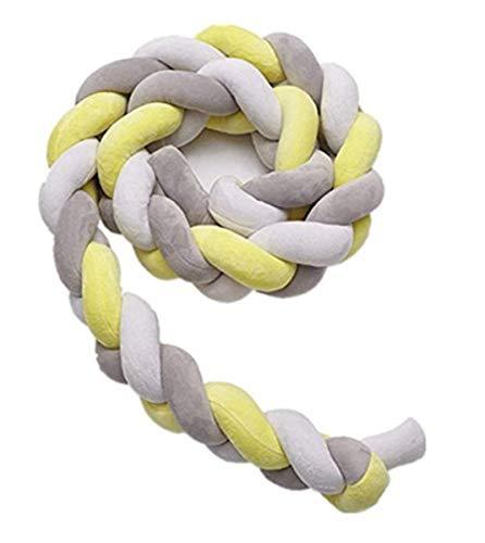 1m 1.5m 2 m 3 m Cojín de bebé Cojín de serpiente, Paraguas trenzado Cuna de terciopelo Parachoques Cama de bebé trenzada Parachoques Guardería de felpa trenzada anudada para recién nacidos