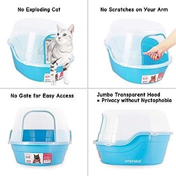 petphabet Maison de Toilette pour Chat Toilette Enveloppée pour Animaux XXL Multiple Couleur Disponible