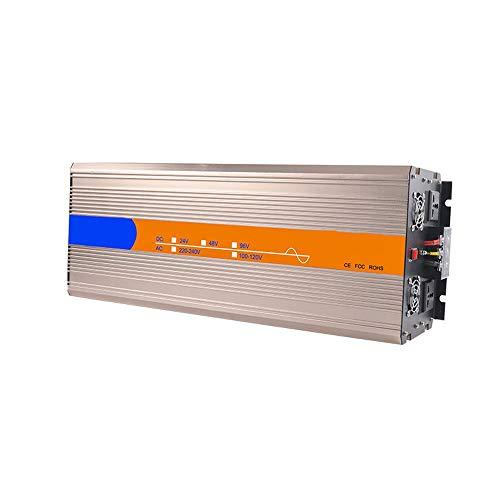 JHHXW Wechselrichter, 6000W / 8000W DC24V / 48V / 96V-AC220V reinen Sinus-Wellen High-Power-Solar-Spannungswandler, 2 Steckdosen, 1 USB-Anschluss (Color : 8000W DC96V-AC220V)