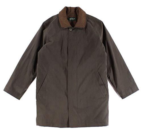 Lauren Ralph Lauren Edgar Raincoat Men's Top Off Casual wear Overcoat (38 Regular) Brown/Olive
