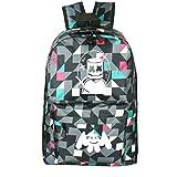 WYCY学生バックパックMarshmelloスクールバッグユニセックス防水スクールブックバッグ印刷トレンドリュックサック用女の子と男の子 (ピンクの格子縞)