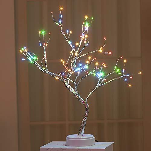 LED Kreative Baumlampe Perlenbaumlampe Urlaub Lampe Schlafzimmer Lampe Geschenk Dekoration Lampe Sternenhimmel Kupfer Lichterkette Baum Lampe