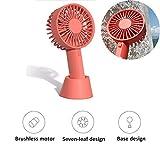 ZZWBOX Petit Ventilateur USB Ultra Silencieux,Mini Ventilateur de Poche a Pile Pas Cher avec brumisateur,Capot de Guidage, Design économique et respectueux de l'environnement,Pink