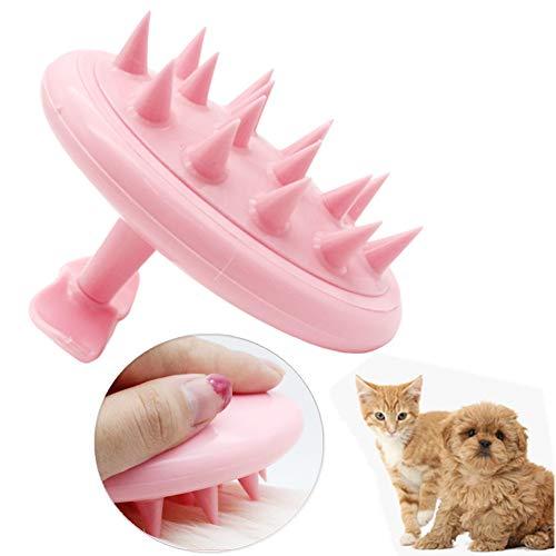 Peine Perro Cepillo para Gatos Gato Peine de pulgas Cepillos para Perros de Pelo Largo A peinando cepillos Perro Peine Impermeable Perro Cepillo Pink