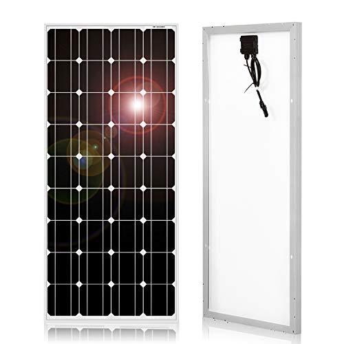 DOKIO 100W 12V Pannello Solare Monocristallino Fotovoltaico Impianto Camper Casa Baita