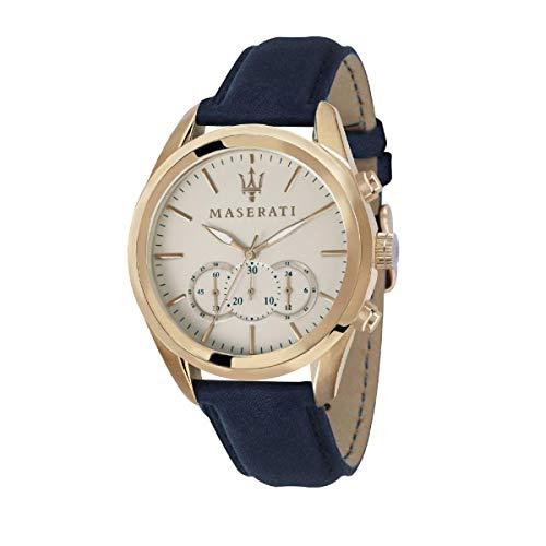 Reloj para Hombre, Colección TRAGUARDO, en Acero, PVD Cuero - R8871612016