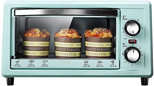 11L Mini horno con bandeja para hornear, mini horno y parrilla, a 60 minutos de apagado automático, 11létrico horno independiente con astillero, azul