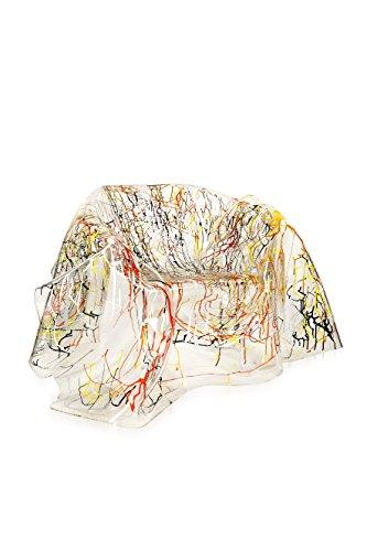 Iplex Design Drappeggi d'Autore stoel, plexiglas/PMMA, transparant met decor, meerkleurig