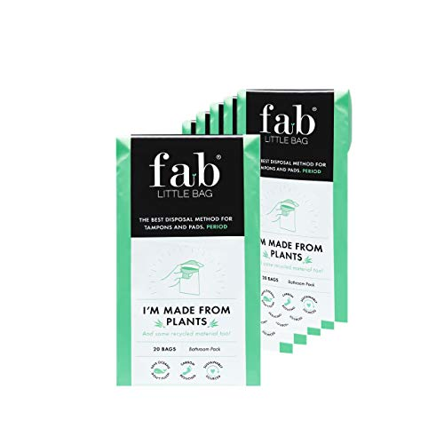 Fab Little Bag Hygienebeutel - zur Vorbeugung von Gerüchen & für eine saubere Handhabung - umweltfreundlich, verschließbar & ideal für Reisen - Packung mit 125 Beuteln, Das Sixer