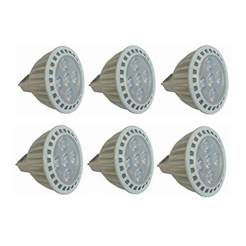 Weichunya Bombillas LED MR16 de 24 V 50 W equivalentes de halógeno 3000 K / 6000 K 5 W GU5.3 MR16 Bombilla de Foco de 24 V No Regulable Ángulo de Haz de 45 Grados Paquete de 6 (Color : Blanco frío)